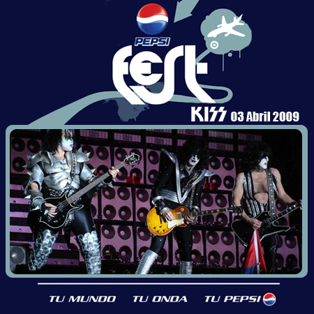 Portada Kiss - Live in Chile 09 - Pepsi Fest