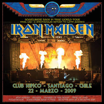 Portada del Somewhere Back In Tour 2009 (Chile)