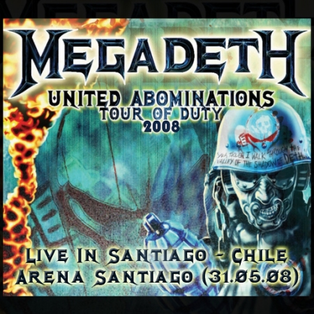Portada Megadeth en Chile - Tour Of Duty (31.06.08)