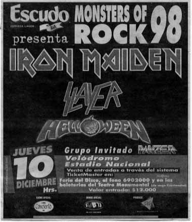 Monster Of Rock - Live In Santiago,Chile (Velódromo, Estadio Nacional - 10.12.98)