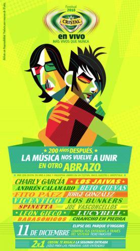 Afiche Cristal en Vivo: El Abrazo 2010