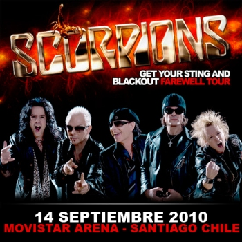 SCORPIONS - Get You Sting And Blackout Farewell Tour - Live At Movistar Arena - Santiago,Chile (14.09.10)